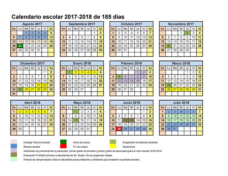 Calendario Escolar Mec 2017 2019 11