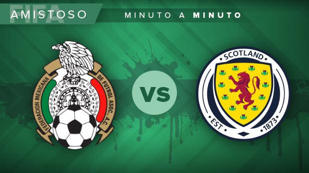 México vs. Escocia; en vivo; amistoso: MINUTO A MINUTO