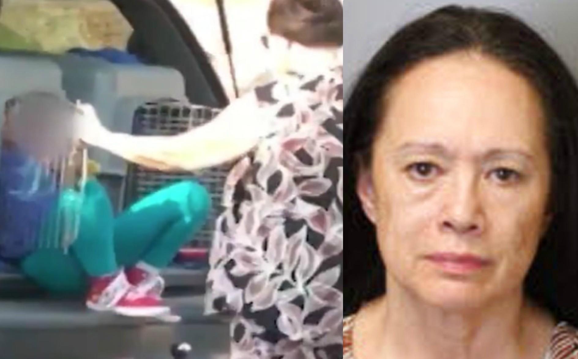 Cruel abuela: Viajó con sus nietos ¡en jaulas para perros!