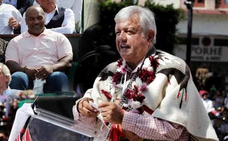 Mike Tyson expresa su apoyo a López Obrador