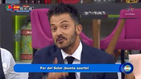 Entre lágrimas, así se despidió Fernando del Solar del programa 'Hoy'