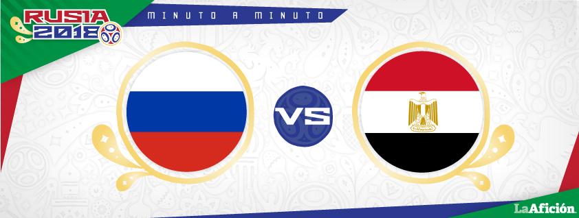 Rusia vs. Egipto en vivo, Rusia 2018: MINUTO A MINUTO