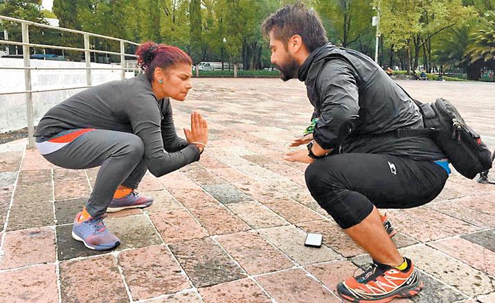 Corredores ciegos se preparan para maratón