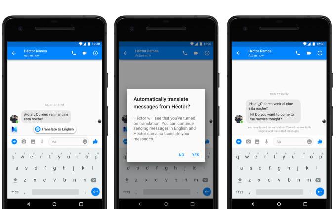 Traducciones automáticas en Facebook Messenger
