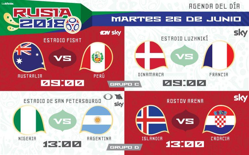 Horario y donde ver los partidos del 26 de junio en rusia 2018 for Milenio 3 horario