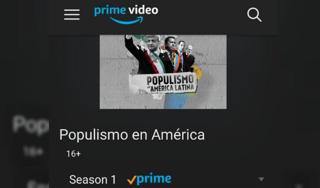 Amazon transmitirá serie del populismo