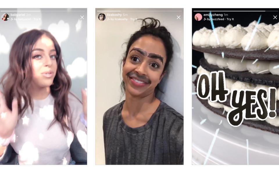 Instagram habilita nuevos filtros de realidad aumentada y videollamadas
