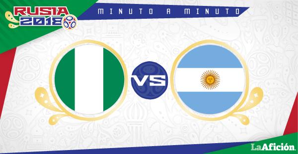Nigeria 1-2 Argentina en vivo y en directo: GOLES