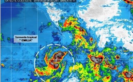 La tormenta tropical Emilia se forma lejos de costas del Pacífico mexicano