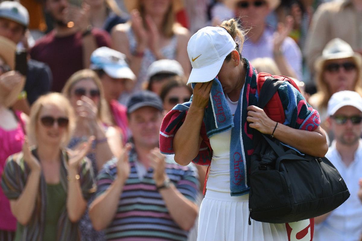 Halep quedó eliminada de Wimbledon por la 48° del mundo