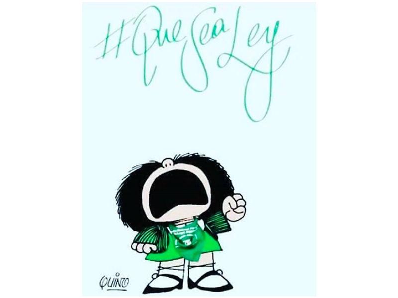 Mafalda, envuelta en una polémica por la legalización del aborto