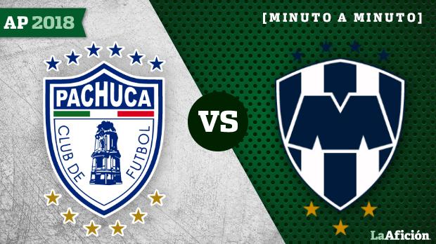 Pachuca 0-1 Monterrey,  Apertura 2018 Liga Mx: JUGADAS