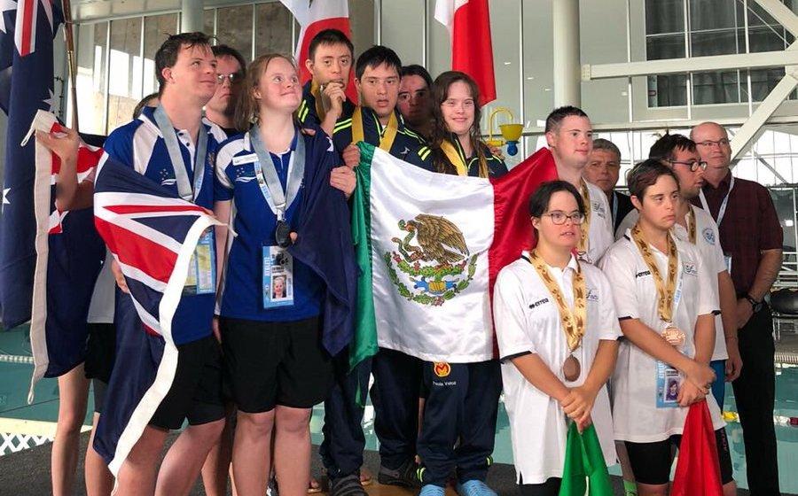 Resultado de imagen para Mundial de Natación para personas con Síndrome de Down