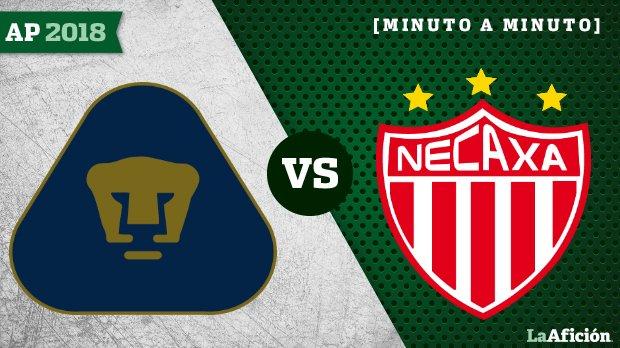Pumas vs. Necaxa en vivo y en directo: Apertura 2018 Liga MX