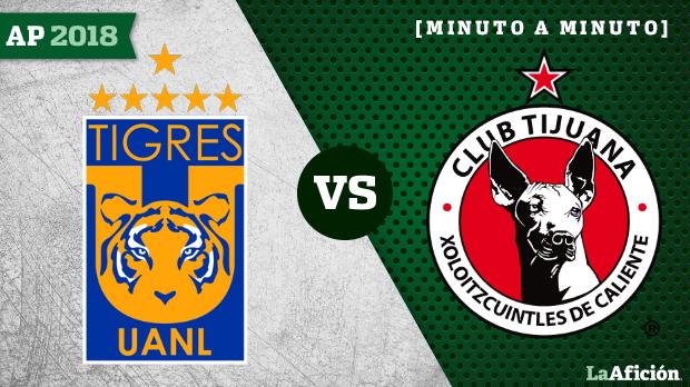 Tigres vs Xolos, Liga MX (1-0): GOL Y RESULTADO