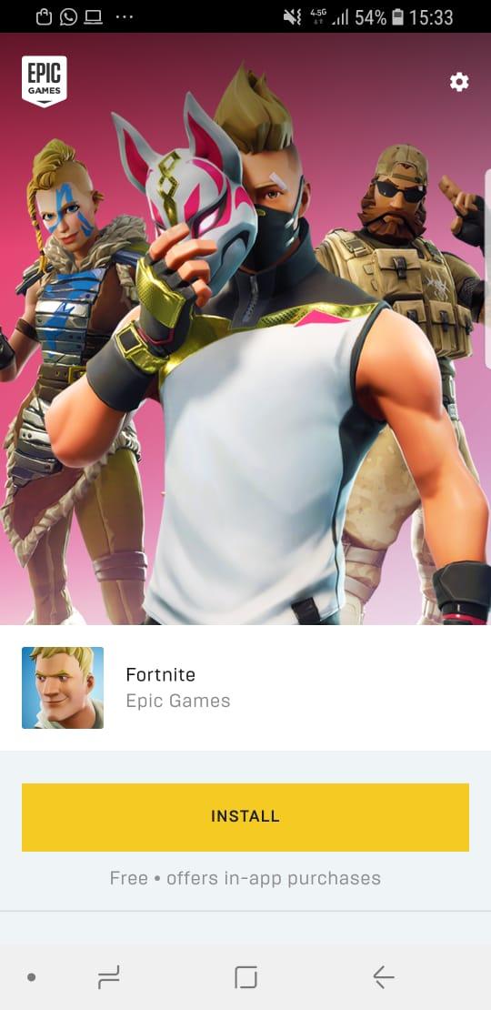 el juego te preguntara si eres nuevo en fortnite o si ya tienes cuenta para recuperar todo lo que ya has desbloqueado en otros dispositivos - dispositivos para jugar fortnite android