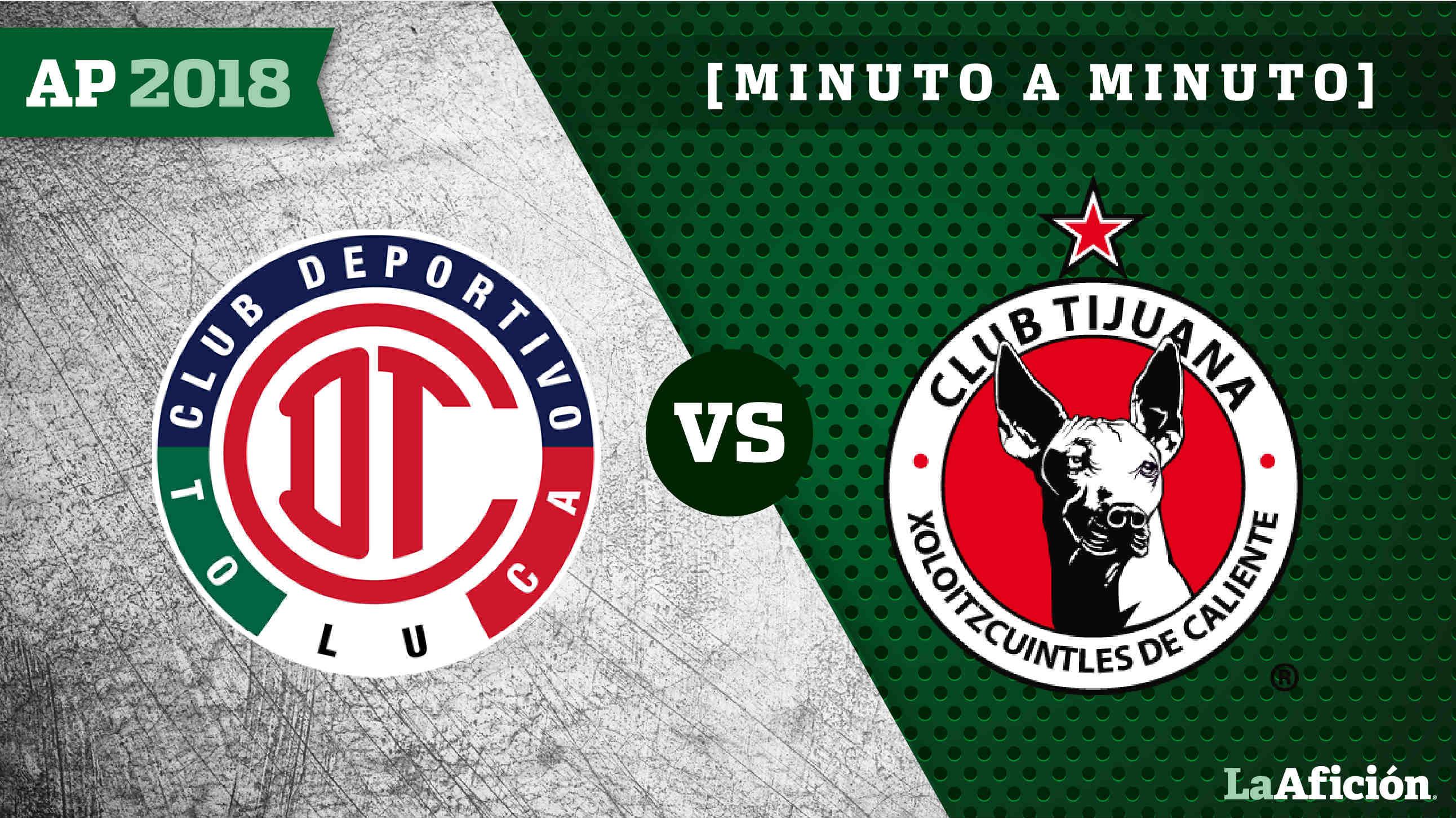 Toluca 3-0 Tijuana Apertura 2018 Liga MX: GOLES