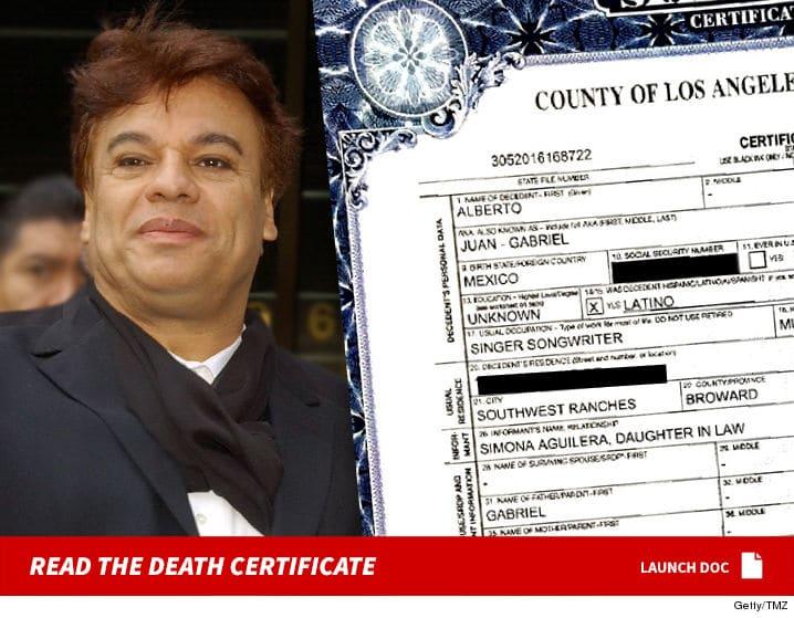 Juan Gabriel no está vivo, asegura abogado