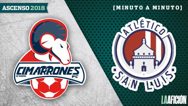 Cimarrones vs San Luis, MX Promotion: GOALS AND RESULTS