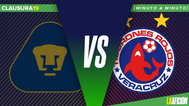 Pumas vs Veracruz en vivo y en directo, Liga Mx: Minuto a Minuto
