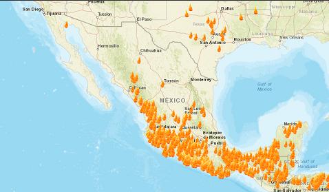 NASA muestra desde el Espacio incendios forestales en México