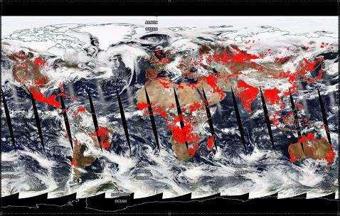 Nasa Mapa De Incendios.Asi Se Ve El Mapa De Los Incendios En Mexico Desde Satelite