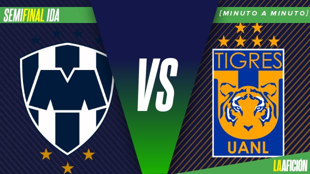Monterrey vs Tigres, Liga MX; Semifinales ida: GOLES Y RESUMEN