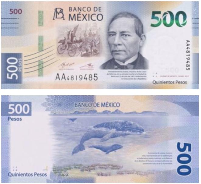 Billete de 500 pesos de México, entre los más bonitos del mundo