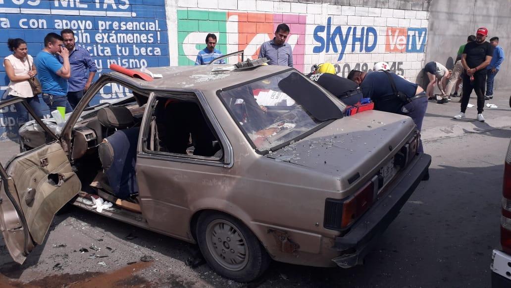 Deja cinco lesionados choque en Guadalupe
