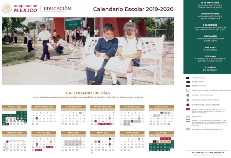 Calendario Academico 2020 16.Calendario Escolar 2019 Cuando Inician Clases Y Cuantos Puentes Hay