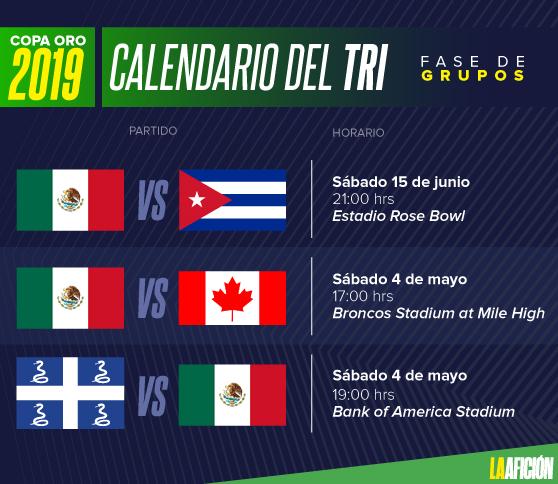 Calendario Copa.Copa Oro 2019 Fechas Y Horarios Partidos De La Seleccion Mexicana