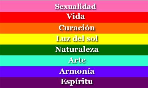 que significa cada uno de los colores de la bandera gay