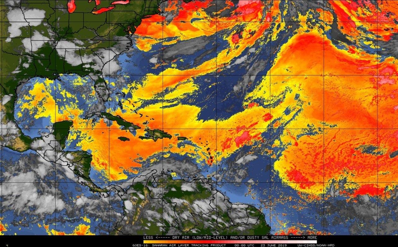 Dust from the Sahara is approaching the Yucatan Peninsula