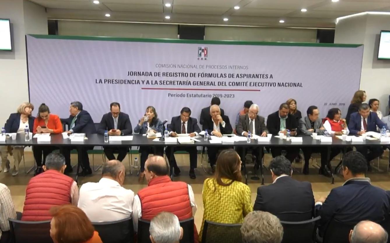 PRI inicia proceso de registro para renovar dirigencia nacional