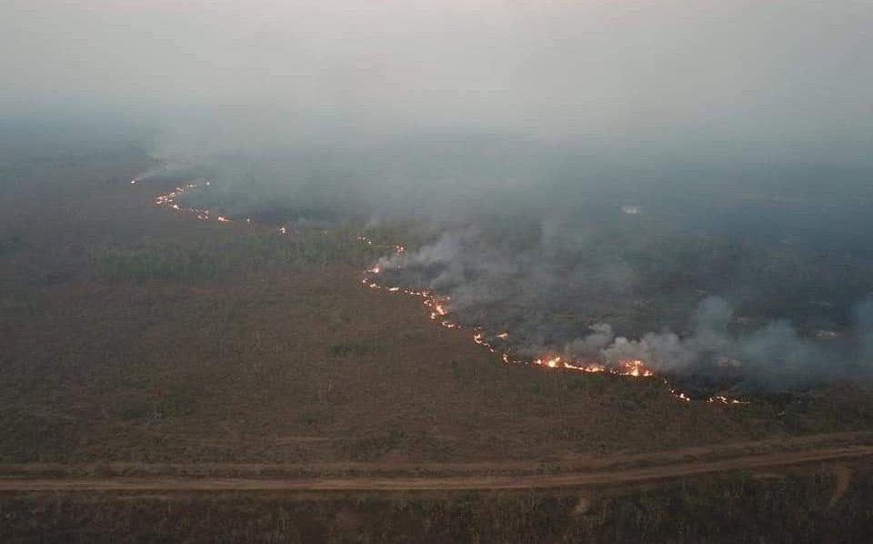 Brasil, incontrolable incendio en Rondonia, que ya afecta a Bolivia y Paraguay