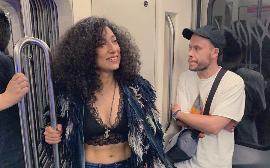 Flor Amargo aclara por qué la bajaron del Metro. VIDEO