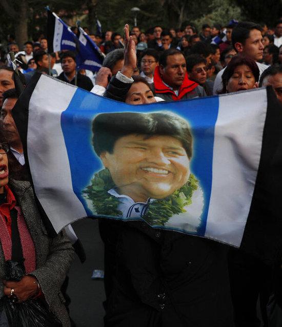 Resultado de imagen para Evo Morales, cerca de su cuarto mandato con 95% de votos contados