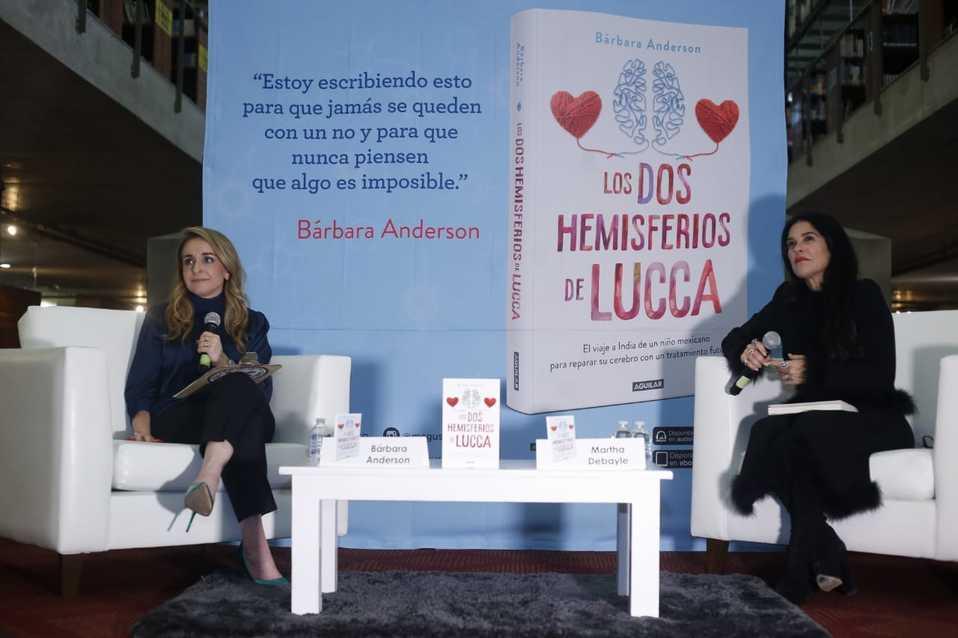 Bárbara Anderson presenta su libro Los dos hemisferios de Lucca