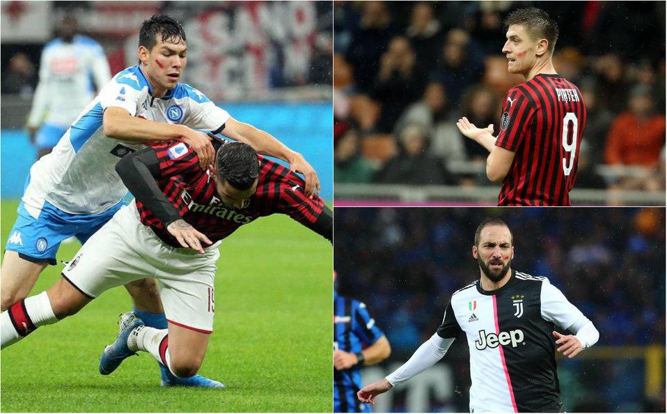 ¿Por qué los jugadores de la Serie A tienen una mancha roja en el rost