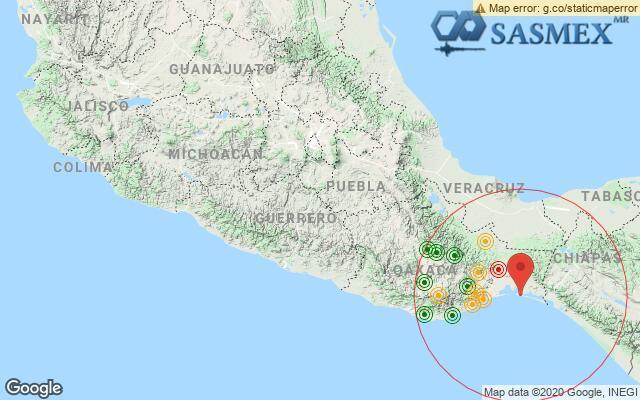 Sismo en Oaxaca, reporta SSN; fue perceptible en la CdMx