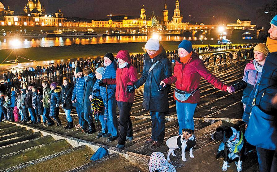 Recuerdan bombardeo de aliados a Dresde con advertencia a neonazis