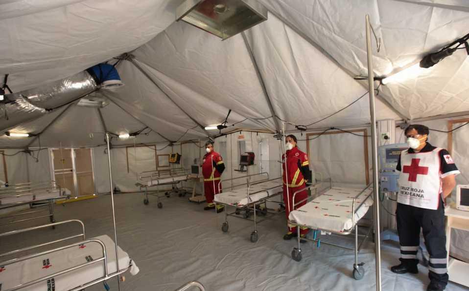 Por coronavirus, INER y Cruz Roja instalan hospital de campo