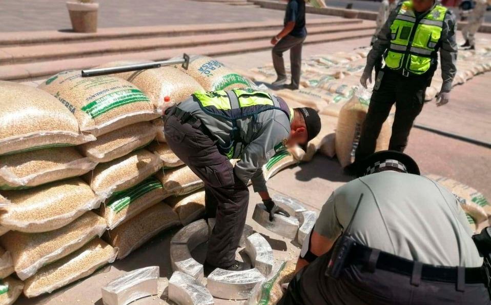 Aseguran en Chihuahua 740 kilos de cristal