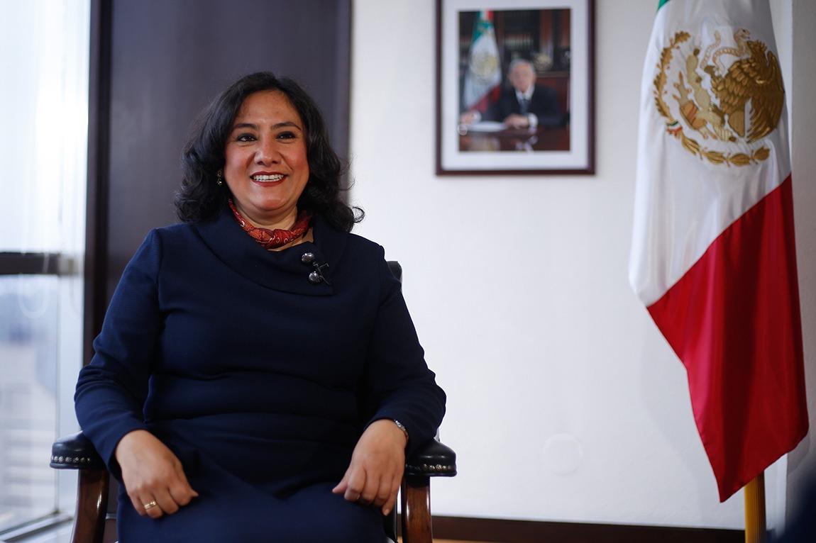 PIE 1 En enero, la secretaria Irma Eréndira Sandoval denunció investigaciones sobre irregularidades en los contratos públicos. (Araceli López)