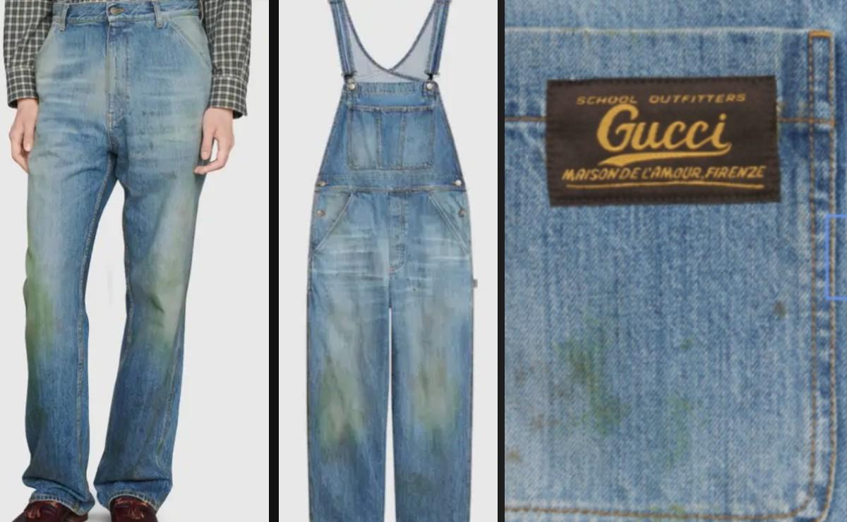 Gucci Lanza Linea De Pantalones Manchados De Pasto Por 30 Mil Pesos Llueven Criticas En Redes Sociales En Desacuerdo