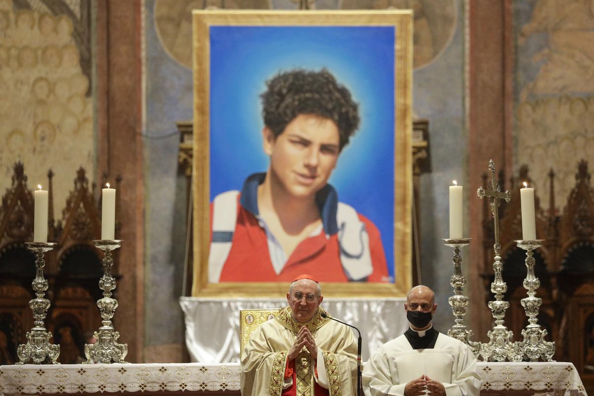 Un niño los altares Carlo Acutis, el primer beato en chándal, 15 años
