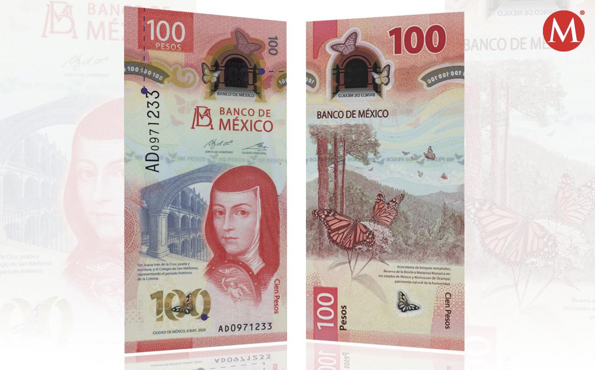 ¿Cómo es nuevo billete 100 pesos de Sor Juana?