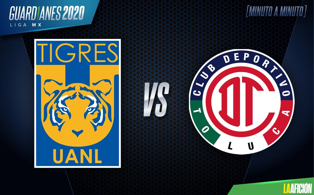 Tigres vs Toluca repechaje EN VIVO. Guardianes 2020 hoy