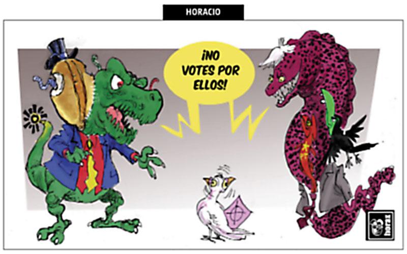 ¡No votes por ellos!  - Horax