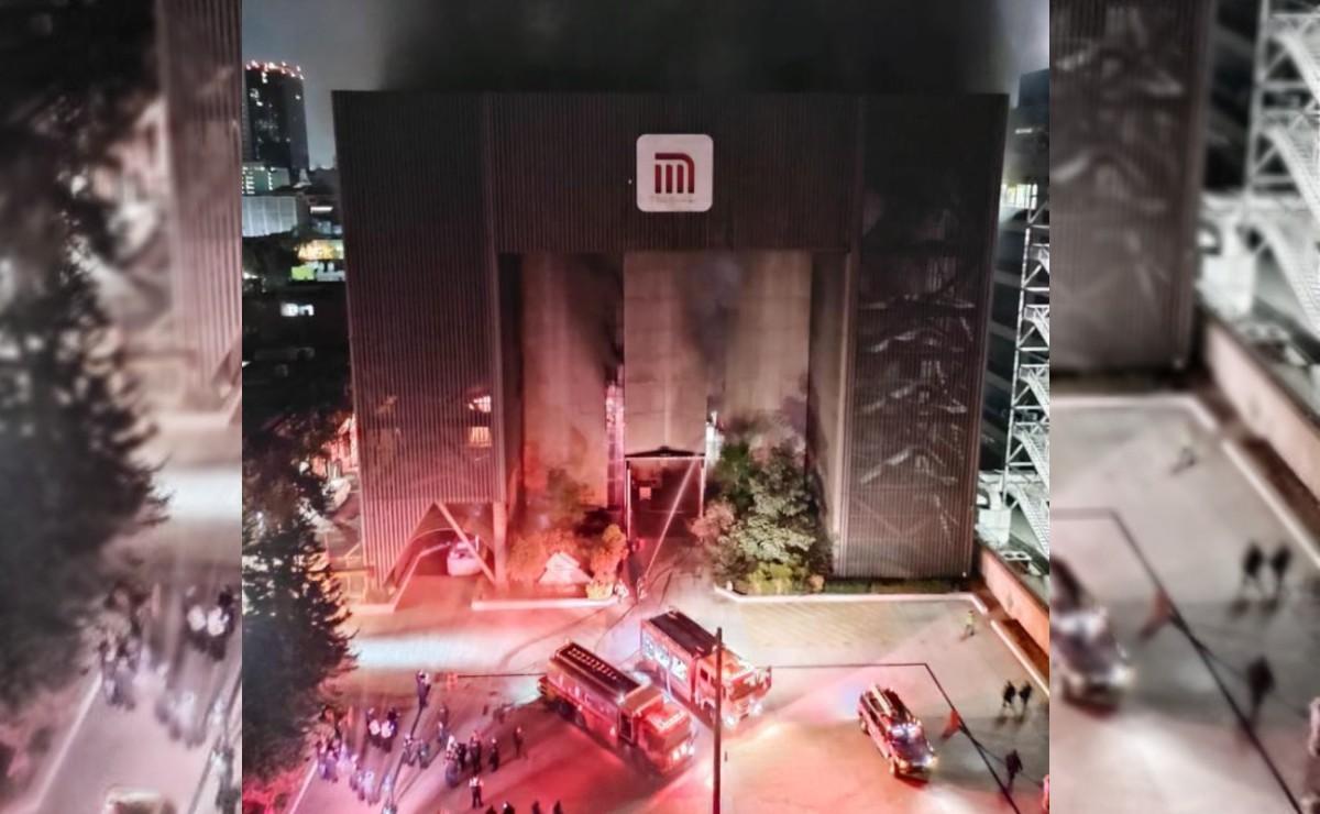 Incendio en la Central de Comando del Metro CdMx. FOTOS